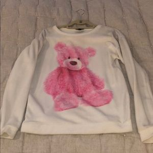 TOPSHOP COZY PINK BEAR PULLOVER, SIZE 6